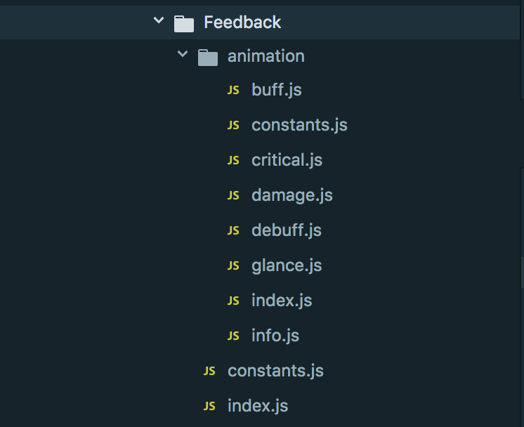 feedback ui module structure